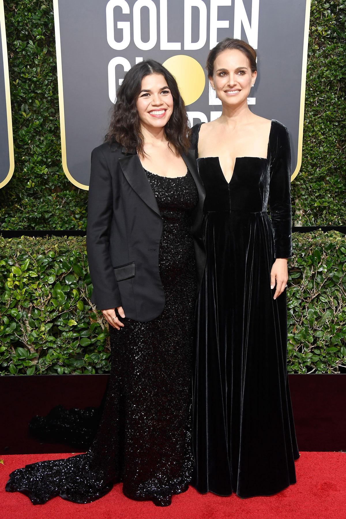 La subasta benéfica de los vestidos de Hollywood en favor de Time's Up - image globos_de_oro_2018_natalie_portman on https://www.vanidad.es
