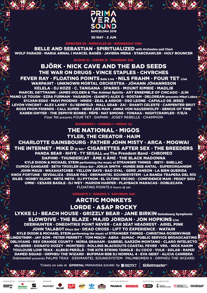 festivales cartel primavera sound 2018_1