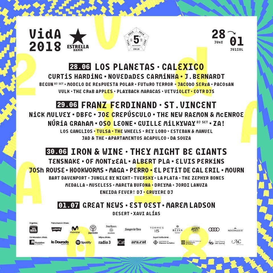 festivales cartel vida 2018_3