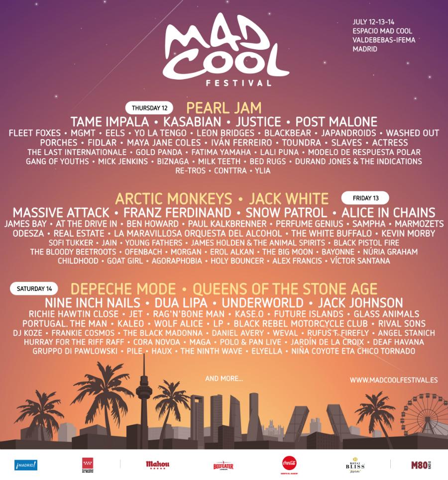 festivales mad cool 2018 MC18-LINEUP