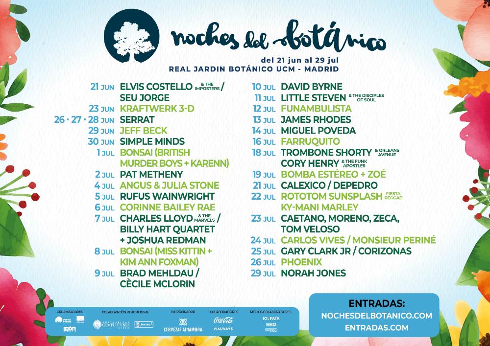 festivales noches botanico