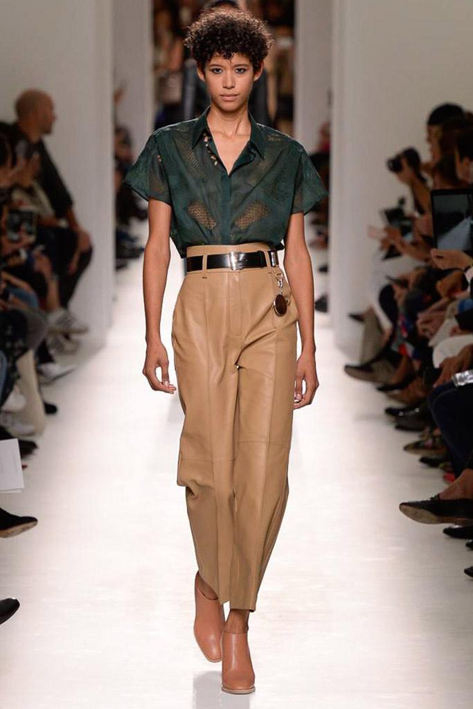 pantalón de tiro alto Hermès